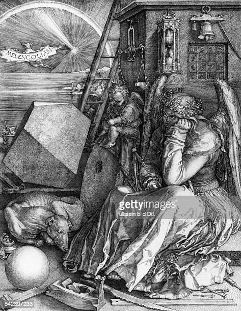 Albrecht Duerer *2105147106041528Bildender Kuenstler Maler Graphiker DDie Melancholie Kupferstich 1514