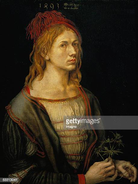 Albrecht Duerer Selfportrait Oil on canvas 1493 [Albrecht Duerer Selbstportrait Gemaelde 1493]