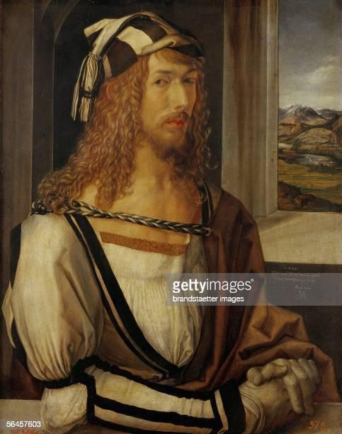 Albrecht Duerer selfportrait Oil on wood 1498 [Albrecht Duerer Selbstportrait 1498 Holz 52 x 41 cm Cat2179]