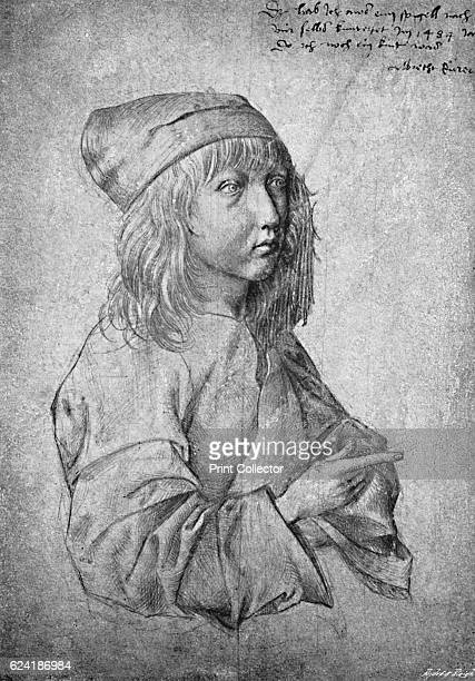 Albrecht Durer at the age of thirteen From a drawing by himself' The work is in the Albertina collection of the Graphische Sammlung Vienna From The...