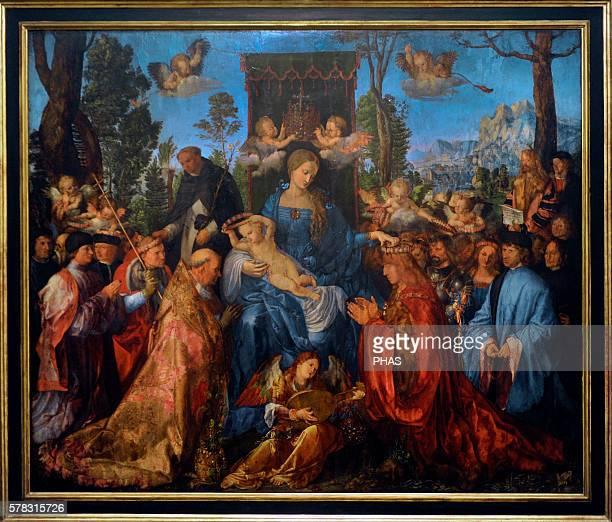 Albrecht Durer German painter The Feast of the Rosary 1506 National Gallery Prague Czech Republic