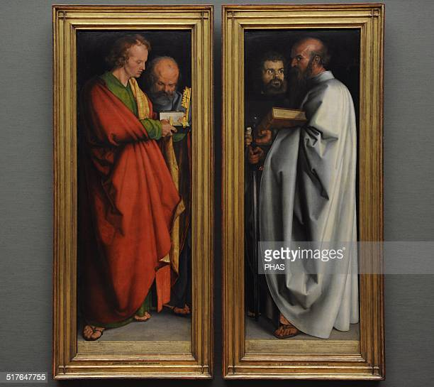 Albrecht Durer was a German painter Northern Renaissance The Four Apostles It was finished in 1526 Saint John and Peter Saints Mark and Paul St John...