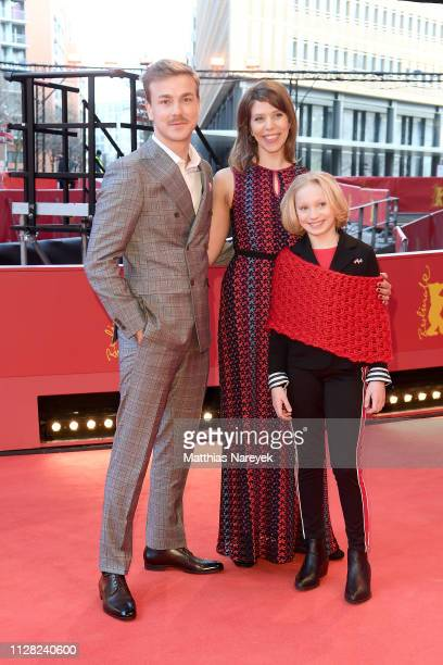 Albrecht Schuch Nora Fingscheidt and Helena Zengel attend the System Crasher premiere during the 69th Berlinale International Film Festival Berlin at...