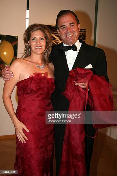 Albrecht von Hohenzollern and his wife Nathalie arrive for the Mentor charity event 'Royal Dinner At a Royal Table' for the German Mentor Foundation...