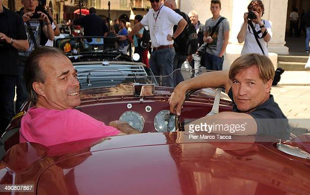 Albrecht Von Hohenzollern and Michael Stehle attend Mille Miglia 2014 1000 Miles Historic Road Race on May 15 2014 in Brescia Italy