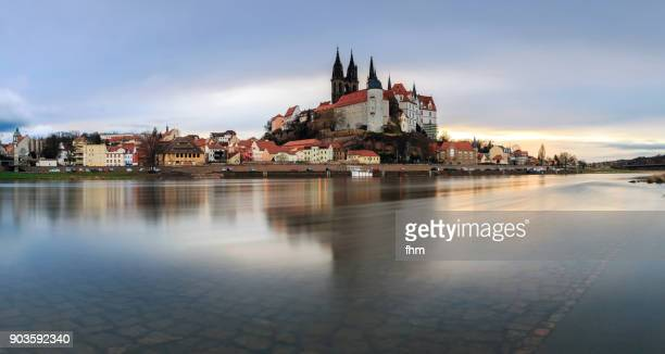 albrechtsburg/ meissen, saxony/ germany - saxony stock pictures, royalty-free photos & images