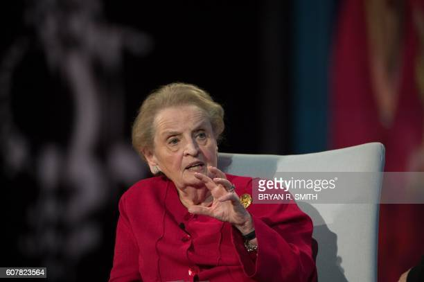 Albright Stonebridge Group Chair Madeline Albright speaks at the Opening Plenary Session 'Partnering for Global Prosperity' at the Clinton Global...