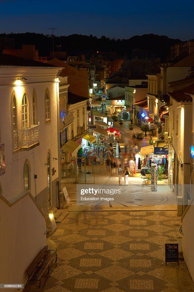 Albufeira, Old Town, Algarve, Portugal, Europe. : News Photo