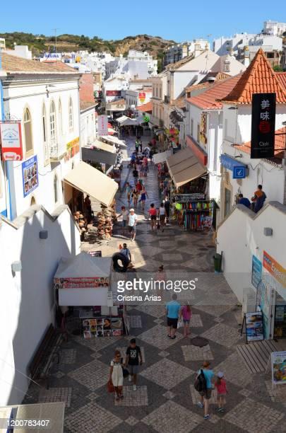 Albufeira Old Town, Algave, Portugal.