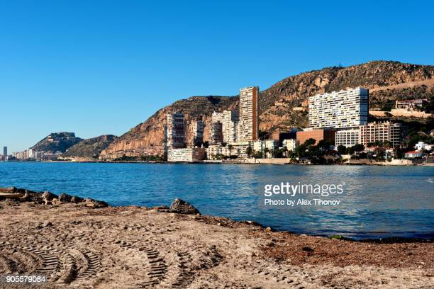albufereta beach - alicante stock pictures, royalty-free photos & images