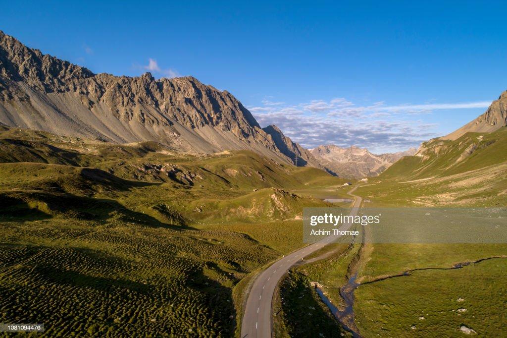 Albula Pass Road, Switzerland, Europe : Stock Photo