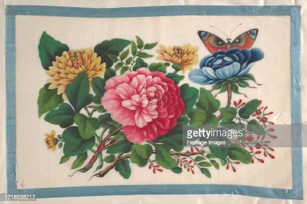 Album Containing Twelve Paintings of Flowers 19th century Artist Unknown
