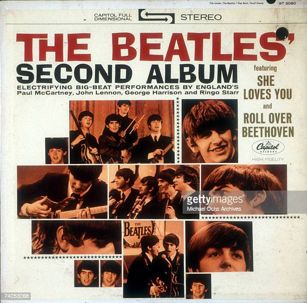Album cover designed for rock and roll band The Beatles album entitled Second Album which was released on April 10 1964
