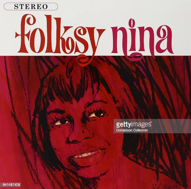 Album cover for Nina Simone 'Folksy Nina' which was released in 1964