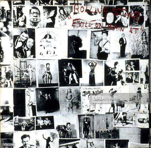 Album cover for rock and roll band The Rolling Stones record Exile On Main Street designed by John Van Hamersveld and released on May 12 1972