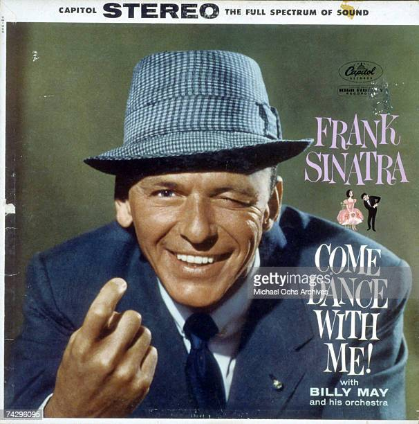Album cover for singer Frank Sinatra's record Come Dance With Me which was released in January 1959