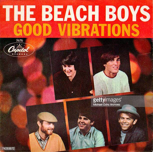 """Album cover for the rock and roll band """"The Beach Boys"""" record """"Good Vibrations"""" which released on October 22, 1966. Clockwise from top left: Brian..."""