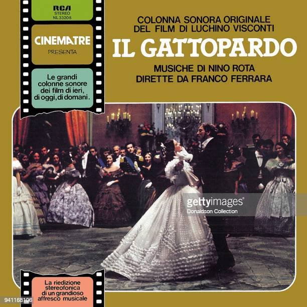 Album cover for the soundtrack for the film 'Il Gattopardo' by Nino Rota which was released in 1963