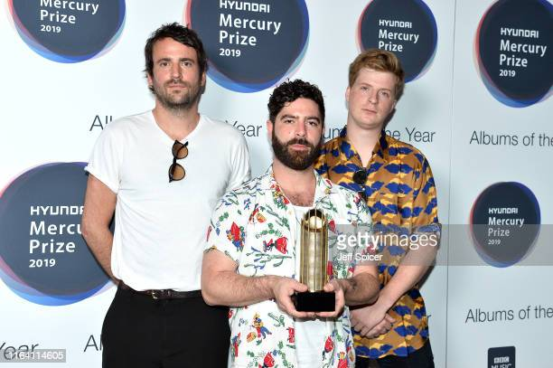 Album of the year nominees Jimmy Smith Yannis Philippakis and Jack Bevan of Foals attend the 2019 Hyundai Mercury Prize Launch at Langham Hotel on...