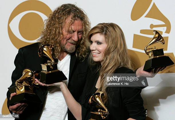 Album of the Year Raising Sand Robert Plant and Alison Krauss at the 51st Annual Grammy Awards at the Staples Center in Los Angeles February 08 2009