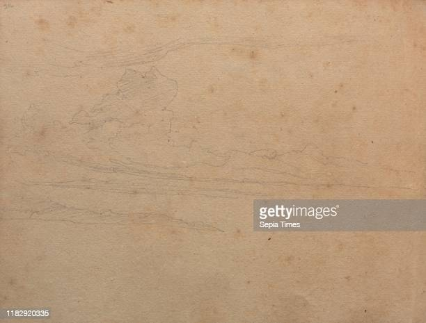 Album with Views of Rome and Surroundings Landscape Studies page 29b Landscape Study Franz Johann Heinrich Nadorp Graphite on brown paper