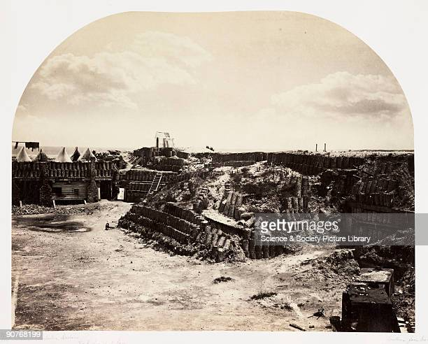 Albumen print by G N Barnard of the site where the first shots of the American Civil War were fired on 12 April 1861 Confederate general Beauregard...