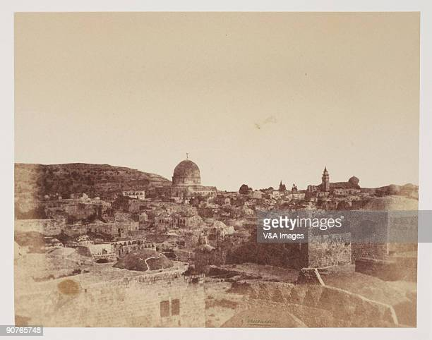 Albumen print 'Jerusalem from my bedroom roof' Dimensions 158 x 202cm
