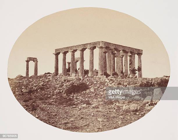 GREECE OCTOBER 03 Albumen print of 'Egina the temple of Jupiter on the island of Aquia in the Agean Sea over against Athens' Dimensions 158 x 205cm