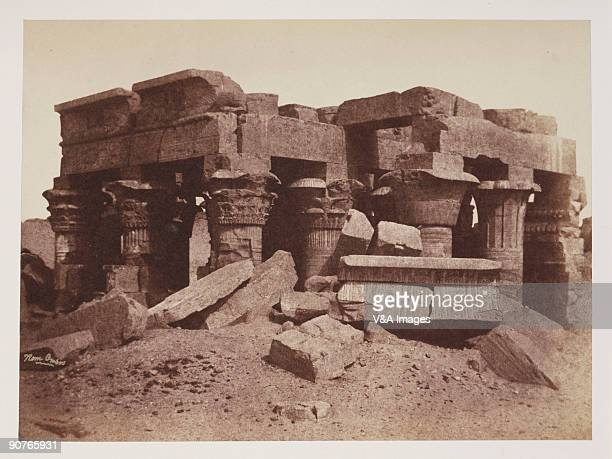 EGYPT OCTOBER 03 Albumen print of 'The Nile Ruins of 'Kom Ombos' a temple a little to the north of Assouan' Dimensions 154 x 208cm