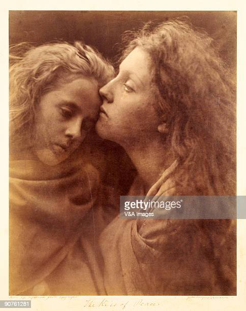 UNITED KINGDOM JANUARY 28 Albumen print Photograph by Julia Margaret Cameron based on a scene from the Bible The models are Florence Beatrice Anson...
