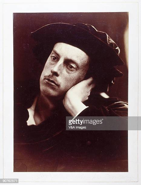 Albumen print. Photograph by Julia Margaret Cameron of the Honourable Francis Charteris . Charteris studied at Balliol College, Oxford and belonged...