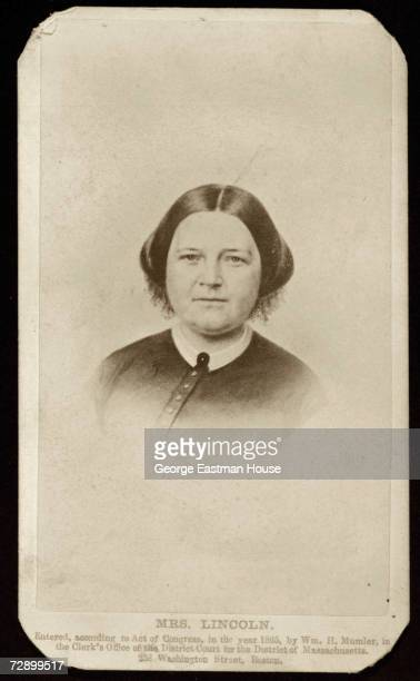Albumen print portrait of American First Lady Mary Todd Lincoln 1865 The image was printed by William H Mumler