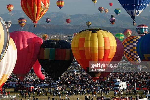 albuquerque international balloon fiesta 2007 - balloon fiesta stock pictures, royalty-free photos & images