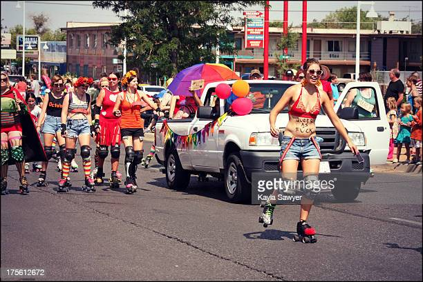 CONTENT] Albuquerque New Mexico Pride parade parade women costumes protest support community gay rights equality sexuality equal rights samesex...