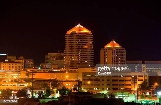 Albuquerque skyline at night