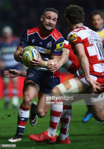 Alby Mathewson of Bristol during the Aviva Premiership match between Bristol Rugby and Gloucester Rugby at Ashton Gate on March 24 2017 in Bristol...