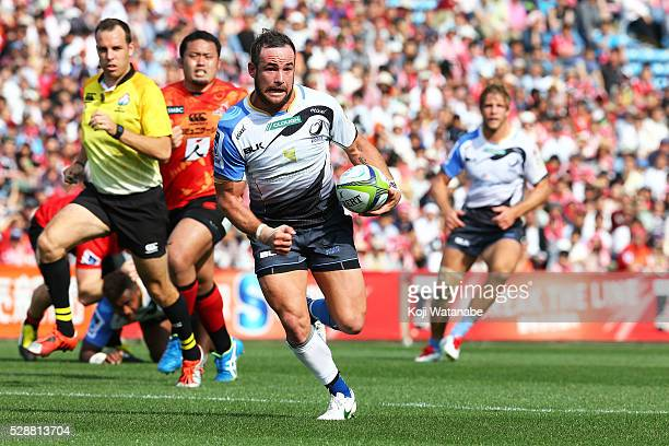 Alby Mathewson of Force in action during the round 11 Super Rugby match between the Sunwolves and the Force at Prince Chichibu Stadium on May 7 2016...
