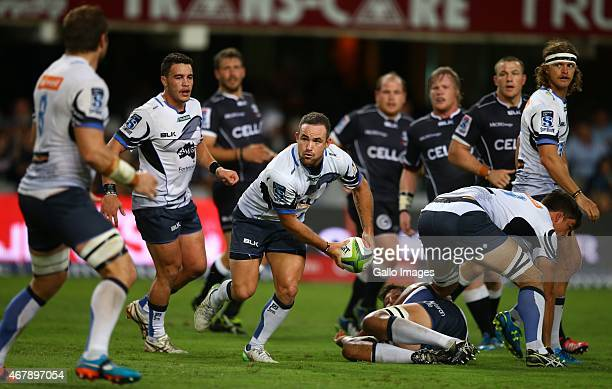 Alby Mathewson of the Western Force in action during the Super Rugby match between Cell C Sharks and Western Force at Growthpoint Kings Park on March...