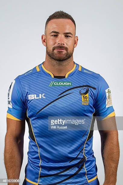 Alby Mathewson poses during the Western Force Super Rugby headshots session at WA Offices on January 16 2015 in Perth Australia