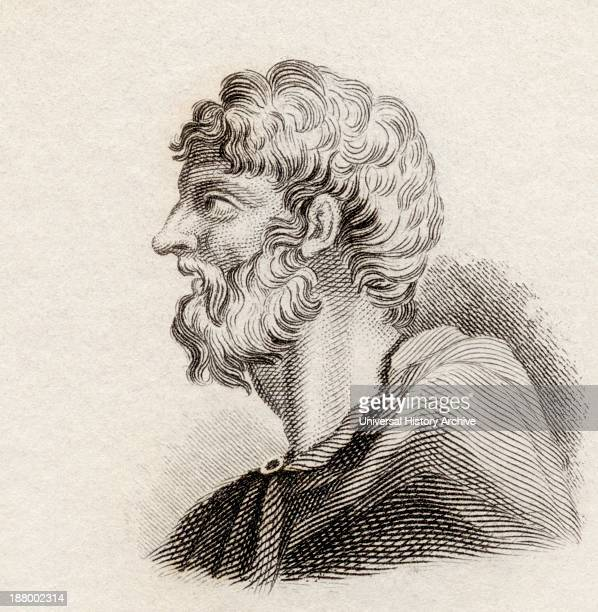 Alcaeus Of Mytilene C 620 Bc Ancient Greek Lyric Poet From Crabb's Historical Dictionary Published 1825