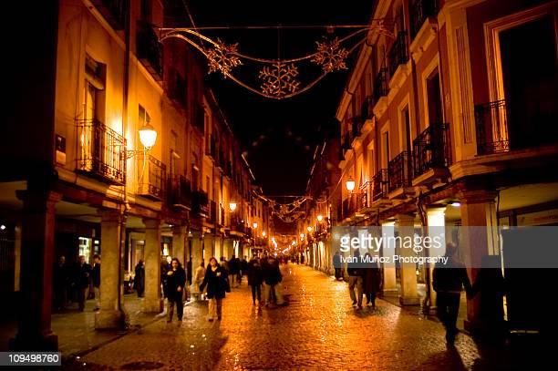alcala de henares night - alcala de henares stock pictures, royalty-free photos & images