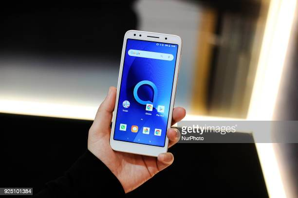 Alcatel 1X at Alcatel stand during the Mobile World Congress Day 2 on February 27 2018 in Barcelona Spain
