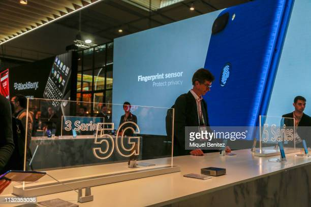 Alcatel's 5G logo is seen during GSMA MWC 2019 The MWC2019 Mobile World Congress The presence of devices prepared to manage 5G communications has...