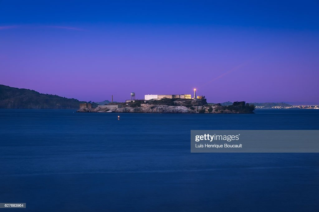 Alcatraz & Blue Hour : Stock Photo