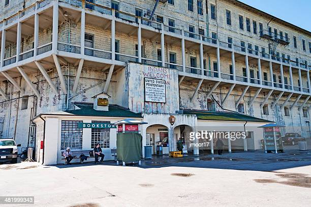 Blick auf die Insel Alcatraz Dock