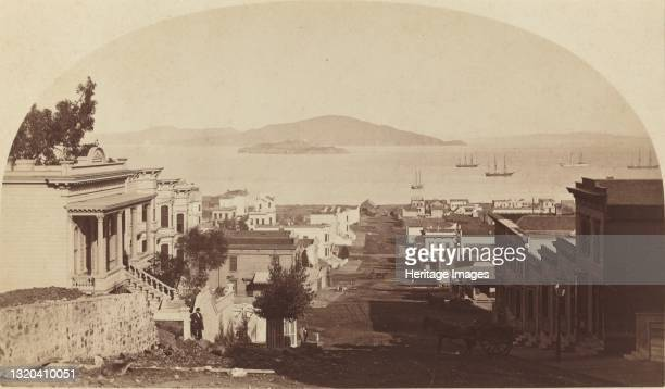 Alcatraz Island and San Francisco Bay, Looking North, 1880s. Artist Carleton Emmons Watkins.