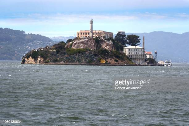 SAN FRANCISCO CALIFORNIA SEPTEMBER 12 2018 Alcatraz Island in San Francisco Bay is the home of Alcatraz Federal Penitentiary Now a museum the prison...
