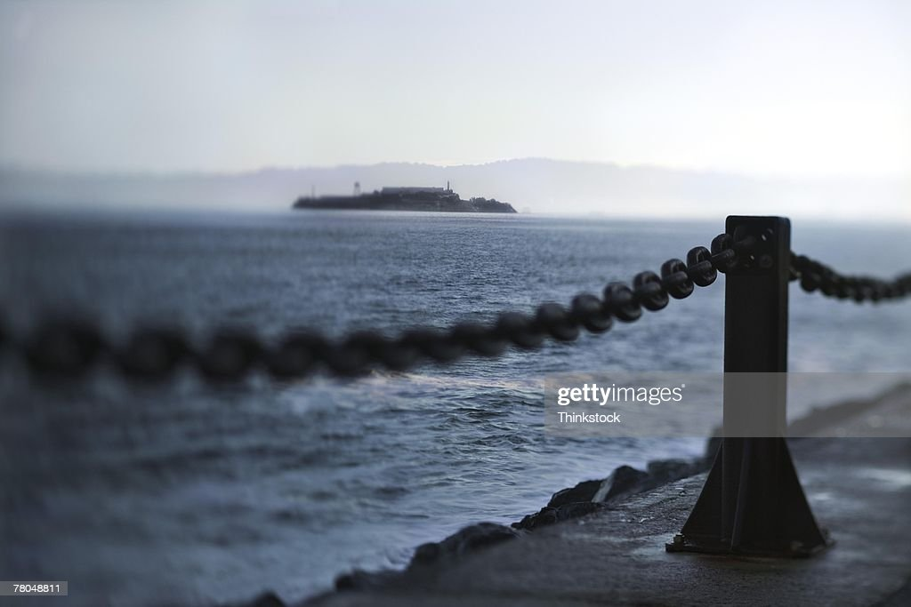 Alcatraz Island in San Francisco Bay : Stock Photo