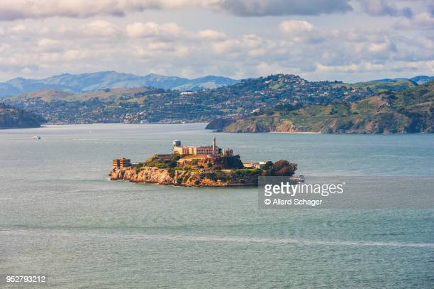 alcatraz island in san francisco bay - alcatraz stock photos and pictures