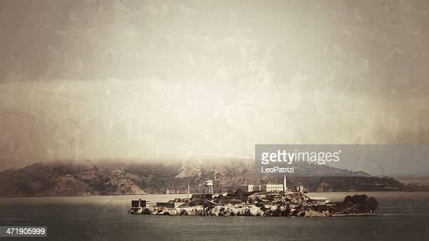 Alcatraz Island seen from San Francisco's hills